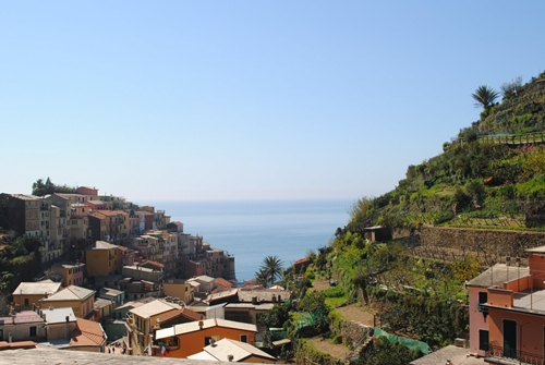 On a hike, Miller captures this view overlooking Manarola, Italy.  Photograph ©Amy Miller.