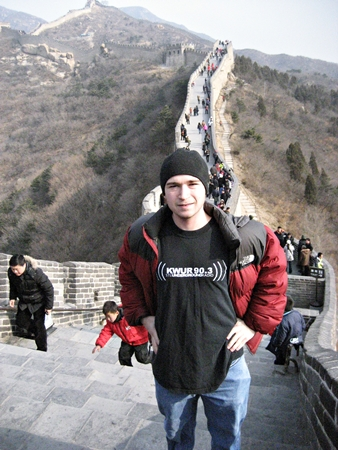 Suher exploring the Great Wall of China.