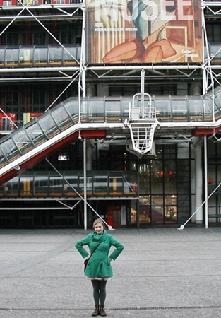 Murray standing in front of the Pompidou Center, Paris, France.
